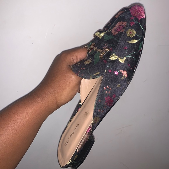 Call it spring Floral loafers